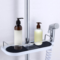 Bathroom Shelf Shower Storage Rack Holder Shampoo Bath Towel Tray Home Bathroom Shelves Single Tier Shower