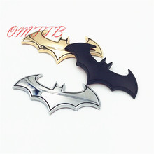 3D metal Car Stickers Cool Bat Metal Auto Logo Batman Badge Emblem Tail Decals car sticker Auto Accessories Car-styling