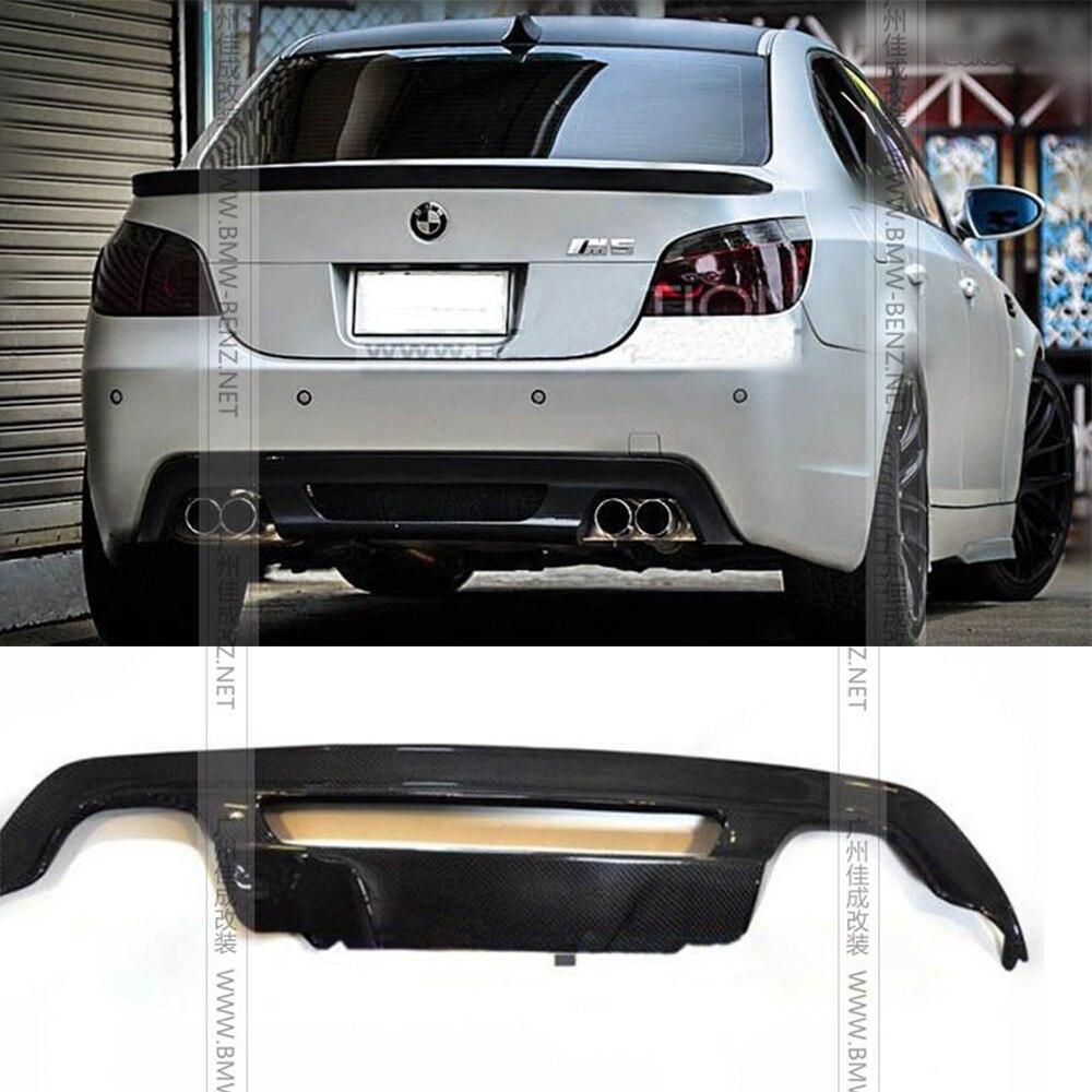 Lèvre de pare-chocs de diffuseur arrière en Fiber de carbone de Style H pour BMW E60 M5 pare-chocs série 5 2004-2010