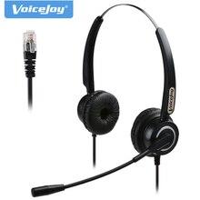 무료 배송 binaural rj9/rj11 헤드셋 마이크 소음 제거 전화 헤드폰 aastra nortel 용 콜 센터 헤드셋