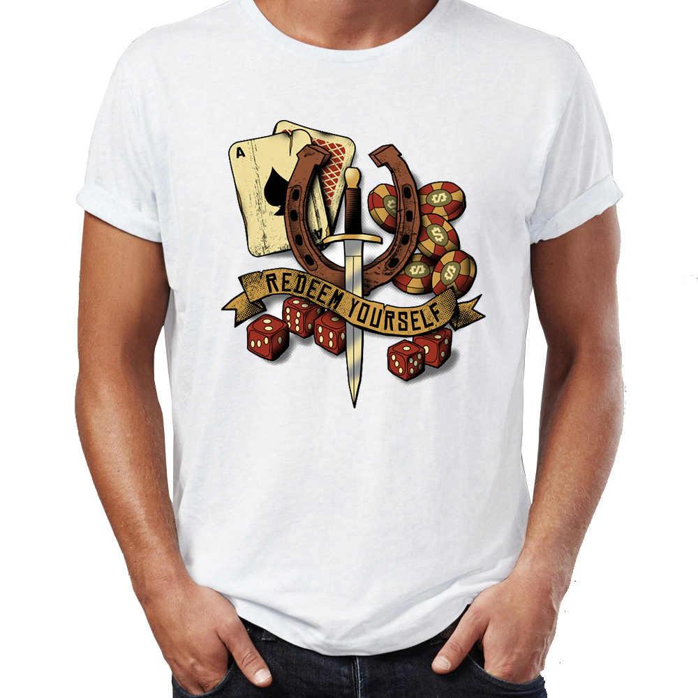 夏男性の Tシャツ赤デッド償還償還自分ゲーム Tシャツ面白い Tシャツトップス原宿ストリート