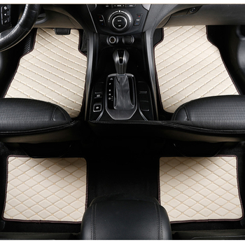 Car Floor Mats Universal for kia sportage ql optima k5 rio 4 x-line sorento niro soul Car Leather waterproof floor mats carpet image