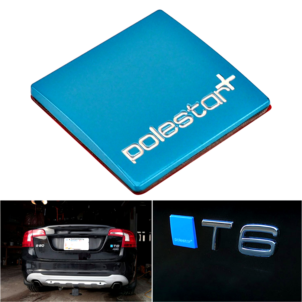Polestar emblem front grill +Rear Trunk Badge Decal Sticker for Volvo S60 V60 S80 XC60 XC90 car styling decorative soarhorse car rear trunk lid emblem badge nameplate decal for chevrolet cruze letters logo sticker