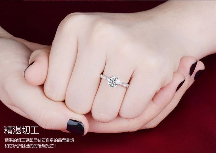 Populaire YANHUI S925 Stamped 100% 925 Sterling Silver Classic 6 Claws 6mm 1  YK58