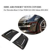Carbon Fiber Front Side Bumper Air Vents Fenders Decorative Scoop for Mercedes Benz C Class W204 C63 AMG 2012 2014 2PCS