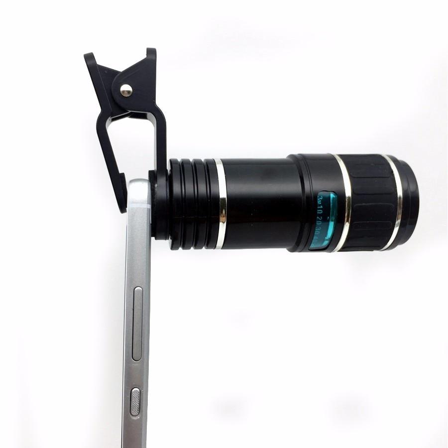 Newest Mobile Phone Camera Lens Kits Fisheye lense Wide Angle Macro Lens 12X Zoom Camera Telephoto Lens For iPhone Samsung LG 7