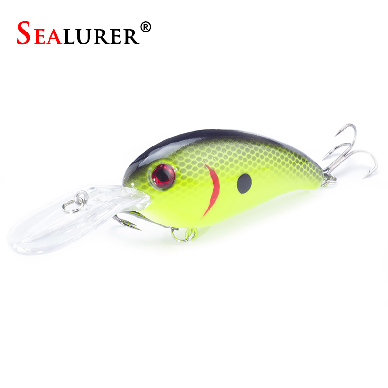 SEALURER Pesca Bass Crankbait Fishing Lure 10cm/14g Wobbler Floating Minnow Hard Bait Trolling Artificial Carp Jerkbait Tackle hunydon hy 118 7 resistive lcd screen win ce 6 0 european map gps navigator 8g