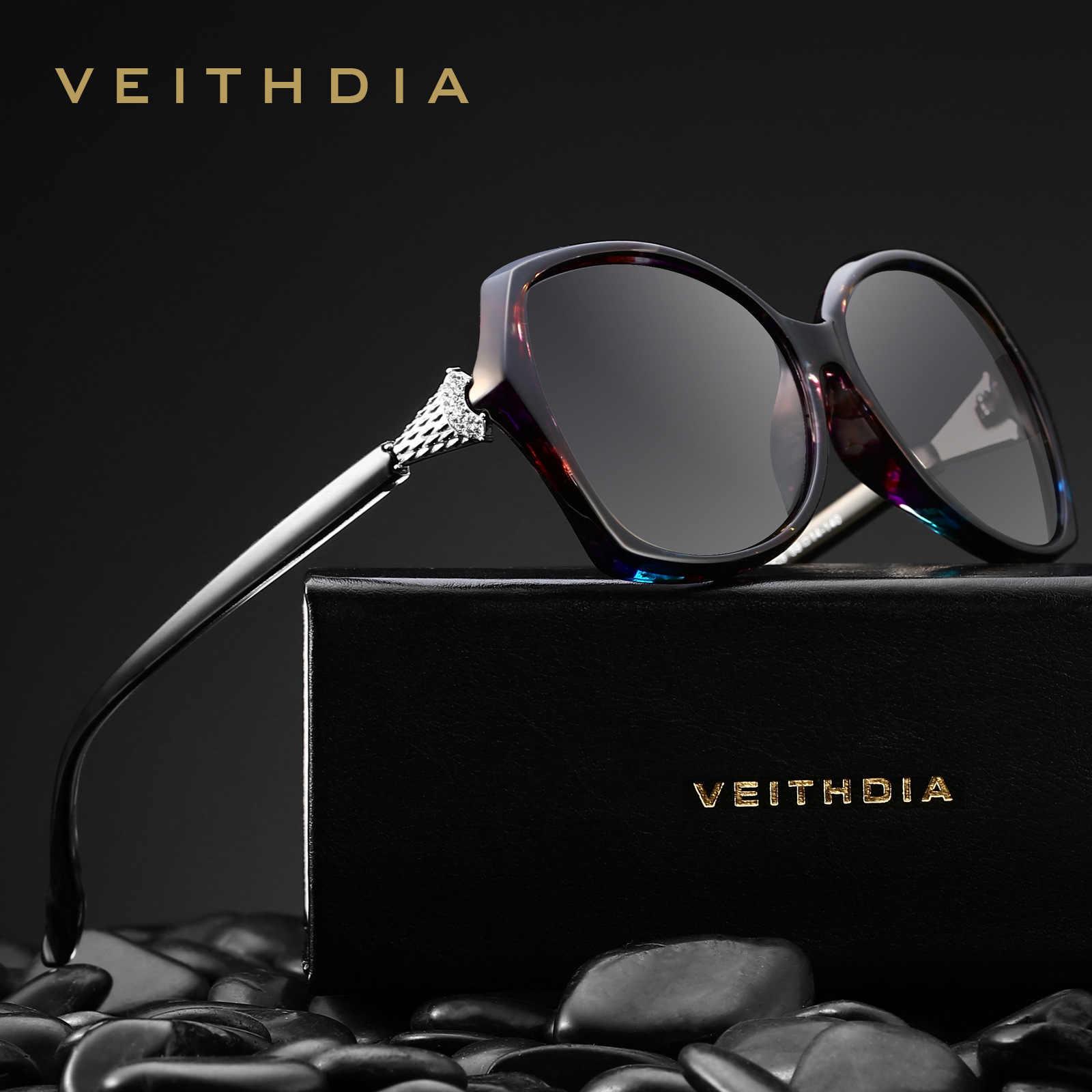 VEITHDIA 2019แฟชั่นFoxเพชรผู้หญิงหรูหราแว่นตากันแดดขนาดใหญ่Elegant Oculos De Solแว่นตาSunสำหรับผู้หญิงUV400