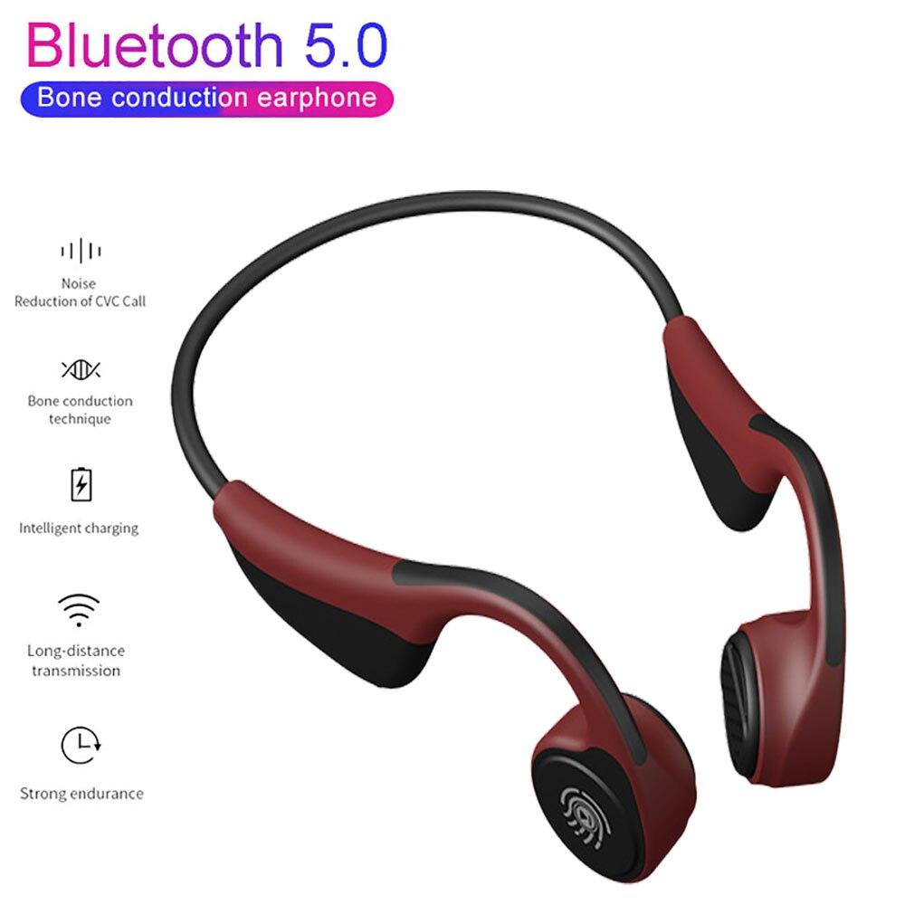 V9 TWS Bluetooth 5.0 Sem Fio Fones De Ouvido de Condução Óssea Fone de Ouvido Ao Ar Livre Esporte Fone de Ouvido com Microfone Fones de Ouvido Para Celulares