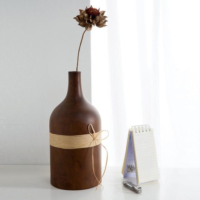 Online Shop Modern Fashion Home Furnishing Mango Wood Vases Flower