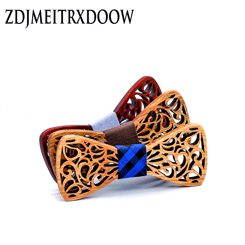 New Arrival Fashion Apparel Accessories Ties Boys Wooden Bow Ties Kids Children Bowties Butterfly Cravat Wood Tie