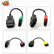 High Quality 4PCS/lot fiatecuscan OBD2 Connector Diagnostic Cable For Fiat ECU Scan MultiECUScan Cable for Fiat 500 Punto Lancia