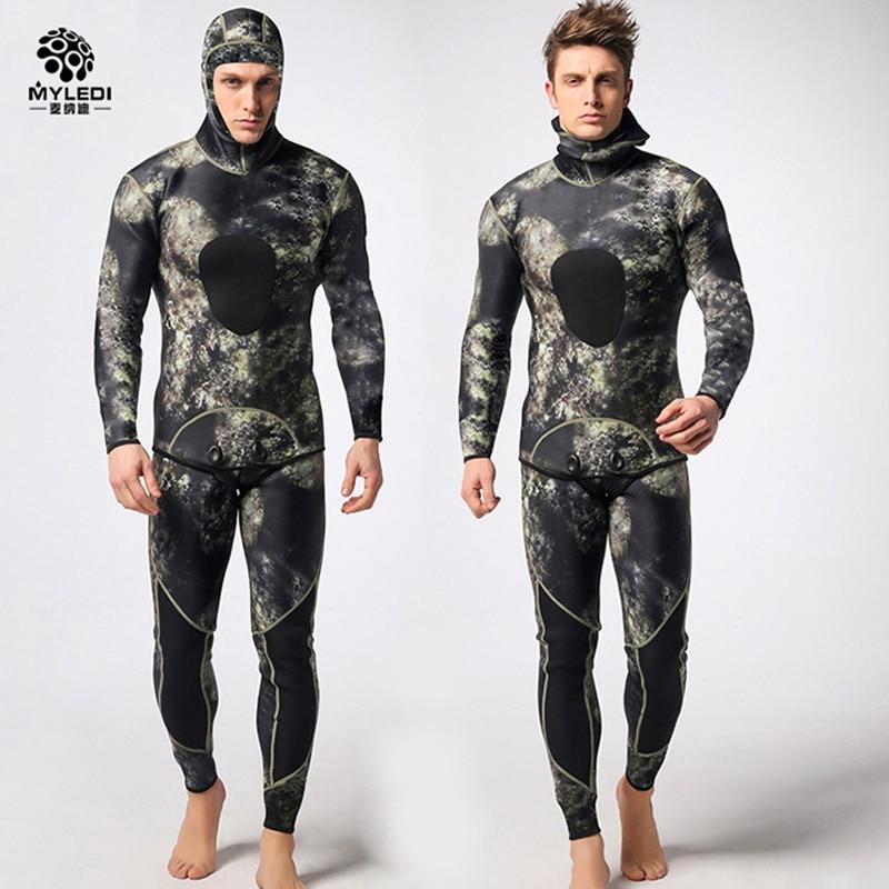 Muta in neoprene 3mm uomini pesca diving pesca subacquea muta surf snorkeling costume da bagno Spaccato Vestiti combinazione tuta da surf muta DHL5-7