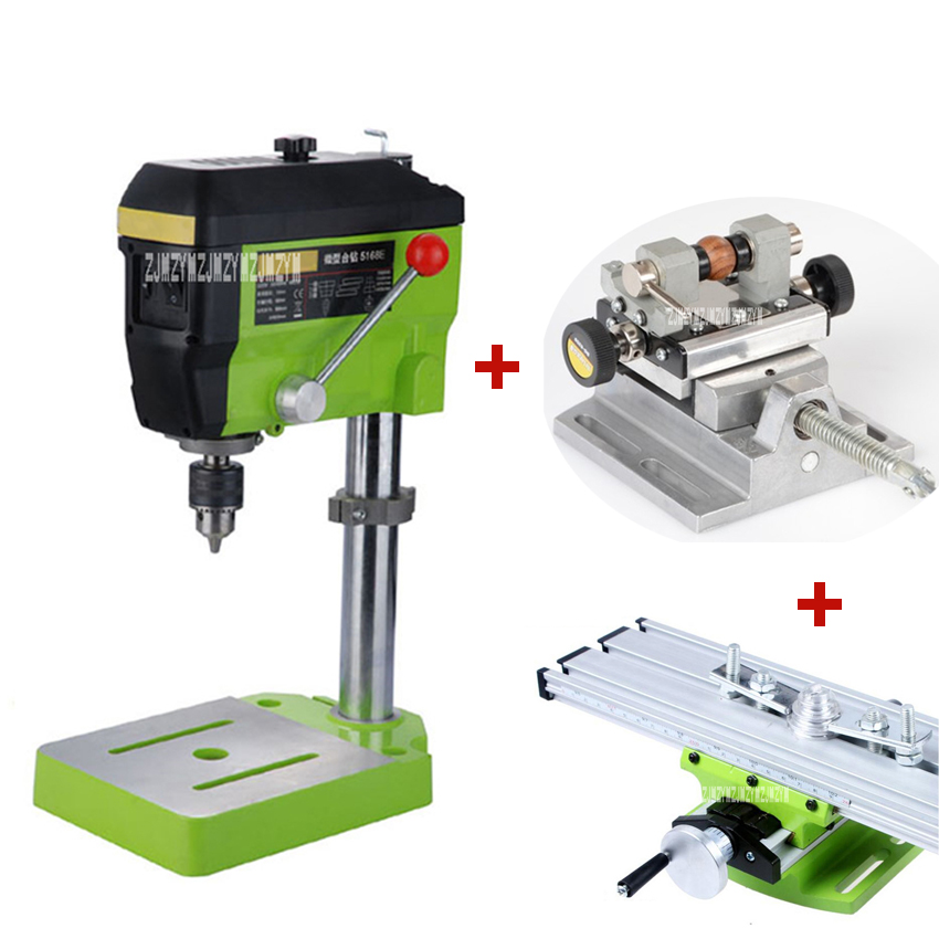 Mini Multi function Workbench 680W High Power BG 5168E Electric Bench Drill Portable Woodwork Drilling Milling Machine 220V 680W