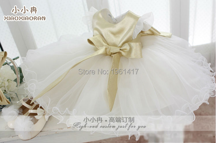 The Free Shipping Fashion Golden Girls Dress Can Be Customized Little Girl's Clothes Factory Direct Sale Price 2016 summer fashion dresses of the girls beautiful female baby lace dress can be customized factory price direct selling