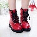2016 новый снег сапоги Корейский дизайн мальчик высокие сапоги кожаные сапоги, детская обувь из девушек помочь родителям-одиночкам, обувь