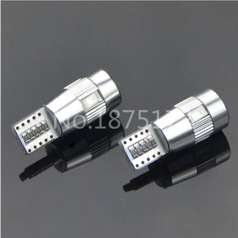 2X W5W T10 501 CANBUS ERROR FREE WHITE LED SIDELIGHT SIDE LIGHT BULBS SL101201