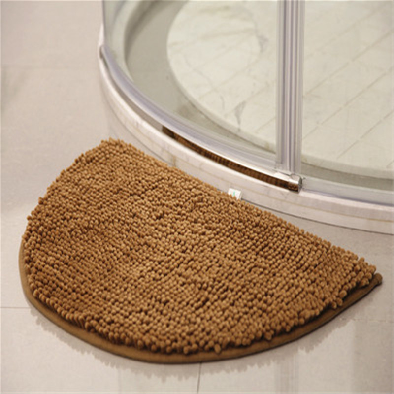 half round style door carpet anti slip proof mats bathroom rugs for living room bathroom circle mat kitchen rug solid color b19 in carpet from home
