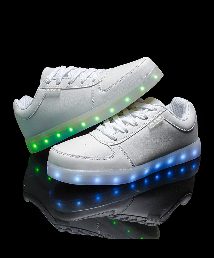 size 31-45 Child and adult men women LED Luminous shoes black white boy girls USB charging shoes casual kids sport glowing shoes