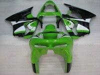 Kits de carrocería para el coche para Kawasaki ZX6R 1999 carenados 636 ZX-6R 1998 1998-1999 verde blanco negro motocicleta carenado Ninja ZX-6R 1999