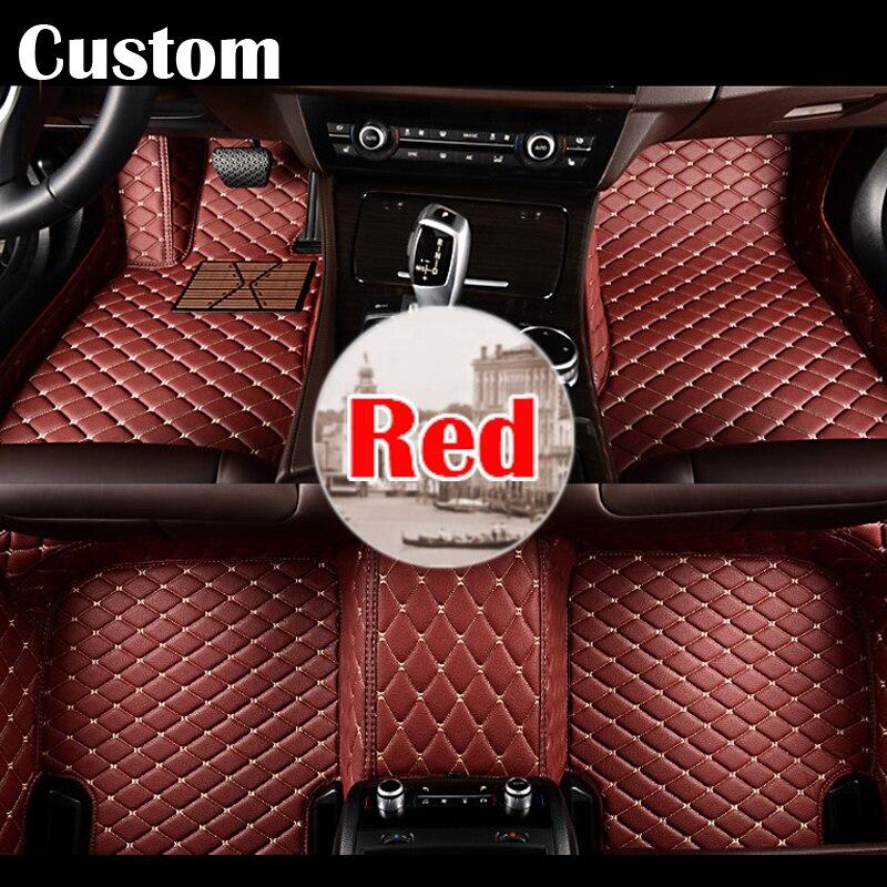 Tapis de sol de voiture sur mesure pour Renault scénic Fluence Latitud Koleos Laguna Megane revêtement de tapis en cuir imperméable style automobile