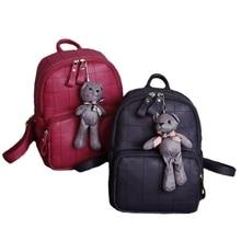 Neue Beiläufige Frauen Rucksack Pu-leder Mit Tragen Weibliche Mochilas Schultaschen Frauen Reisetasche Plaid Rucksäcke Für Mädchen