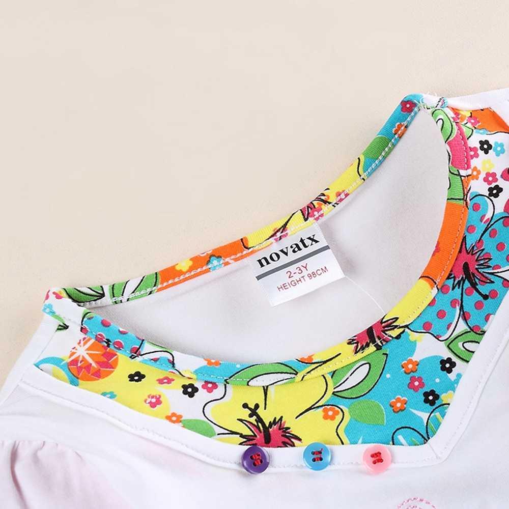 JUXINSU Kızlar pamuklu uzun kollutişört T-shirt Üç Saksı Nakış Sonbahar Kış Kız Rahat gömlek 1-7 Yıl