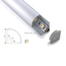 500 x 1M Sets/Lot V shape aluminium led profile and 60 degree angle alu extrusion for kitchen or wardrobe lamps