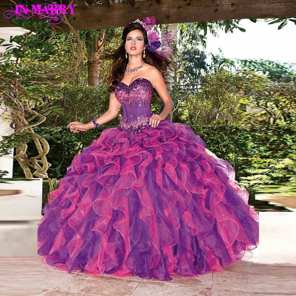 Popular Dark Purple Quinceanera Dresses-Buy Cheap Dark Purple ...