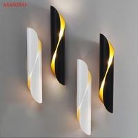 Modern Aluminum tube wall light G9 Light fixtures gold black Nordic restaurant living room aisle corridor balcony wall lamp