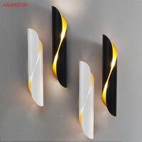Moderne Aluminium rohr wand licht G9 leuchten gold schwarz Nordic restaurant wohnzimmer gang korridor balkon wand lampe-in LED-Innenwandleuchten aus Licht & Beleuchtung bei