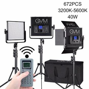 GVM Photography Video Lighting GVM-672S Set Kit Lamp Beads LED with Stand CRI97 40W Panel Light for Camera Fill Lighting