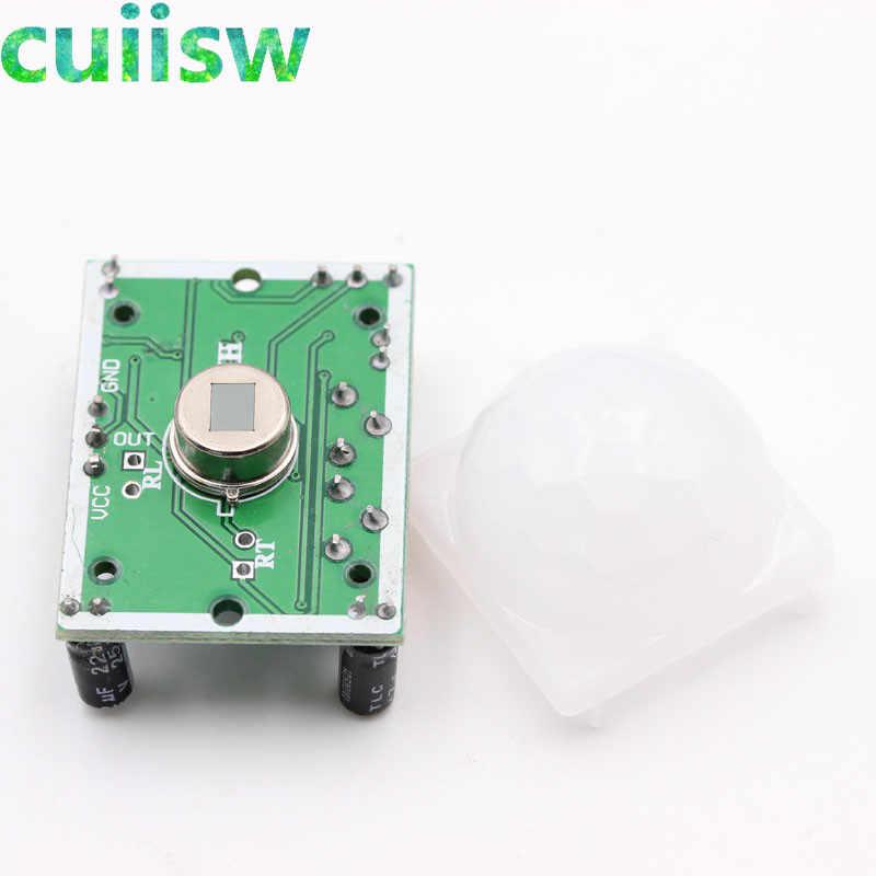 1 шт. HC-SR501 HC-SR505 AM312 Отрегулируйте пироэлектрический инфракрасный Мини PIR модуль датчик движения переключатель детектор модульный кронштейн