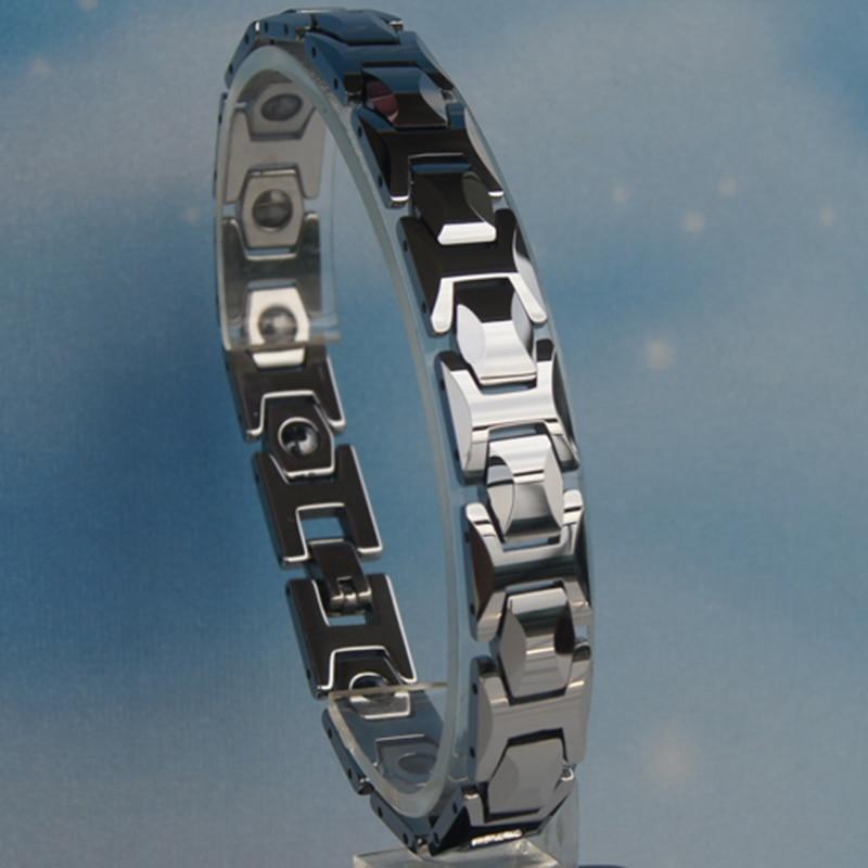 11MM width Men magnetic classic heavy hi tech scratch proof tungsten bracelet
