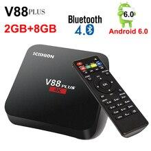 SCISHION V88 PLUS Android 6.0 Smart TV Box Rockchip 3229 Quad-Core 4 K H.265 BT4.0 de 2G 8G 2.4G WiFi Set Top Box Reproductor Multimedia inteligente