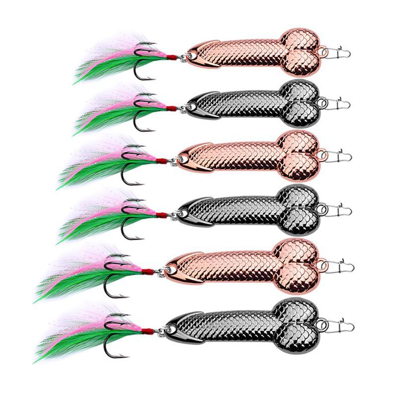 Fishing Lures Tackle Hook Dick Spinner Spoon Pike VIB Wobble Tackle Hook 1Pcs