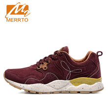 MERRTO Skidproof Woman Walking Shoes Breathable Genuine Leather Female Retro Sneakers Comfortable Athletic Outdoor Sports Shoes