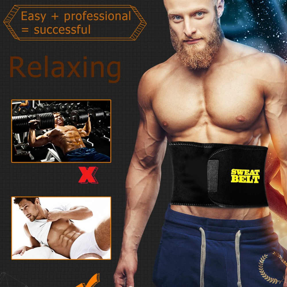 3fad4c292228a Fat Burning Mens Elastic Waist Belt 2018 New New Abdomen Girdle Belly Body  Sculpting Shaper Top