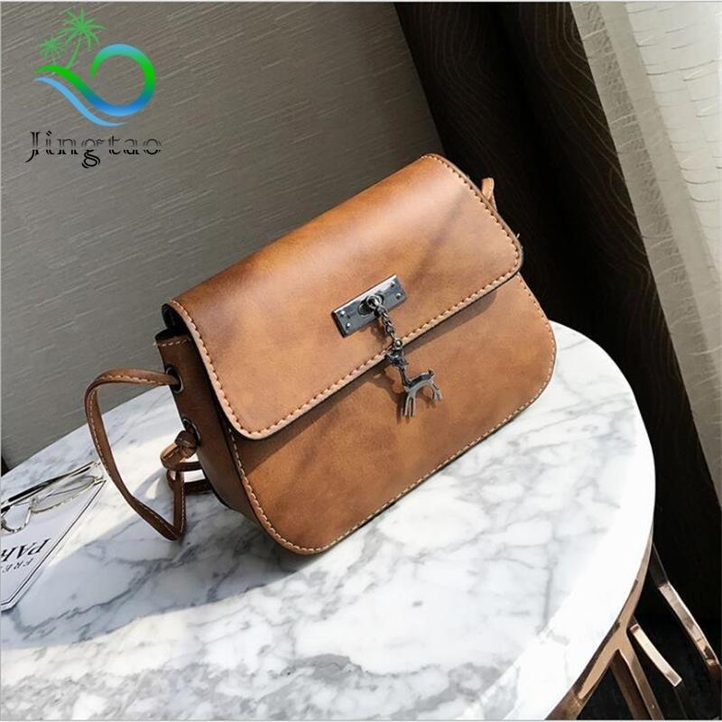 Lkprbd Best Sellers  women messenger bag Retro Leather Small Handbag luxury  designer high quality fashion hot lady Satchel Bag