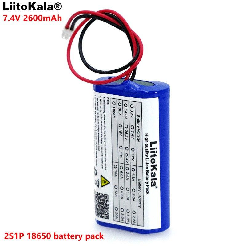 LiitoKala 7.2 V/7.4 V/8.4 V 18650 batterie au lithium 2600 mA batterie Rechargeable mégaphone haut-parleur panneau de protection