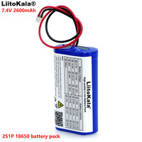 LiitoKala 7.2 V / 7.4 V / 8.4 V 18650 lithium battery 2600 mA Rechargeable battery pack megaphone speaker protection board