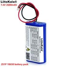 Liitokala 7.2 v/7.4 v/8.4 v 18650 리튬 배터리 2600 ma 충전식 배터리 팩 확성기 스피커 보호 보드