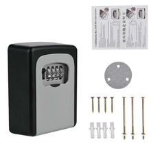 Outdoor Safe Key Box Key Storage Organizer Wall Mounted With 4 Digit Combination Password For People who often lost keys