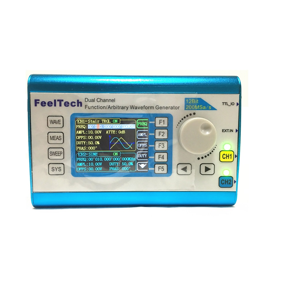 US $75 68 14% OFF|FeelTech FY6300 15MHz dual channel DDS function arbitrary  waveform signal generator signal source / frequency counting-in Signal