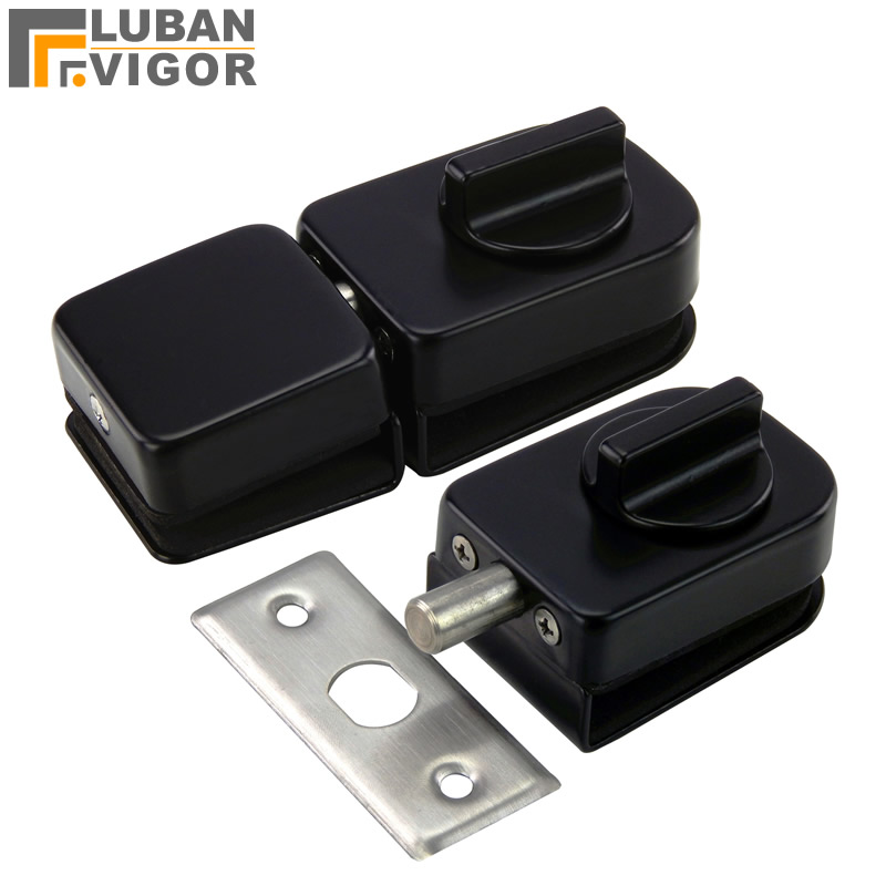 New design,Black Glass Door Latches Lock/bolt,Stainless steel,Without drilling,for Double/single glass door,Frameless glass doorNew design,Black Glass Door Latches Lock/bolt,Stainless steel,Without drilling,for Double/single glass door,Frameless glass door