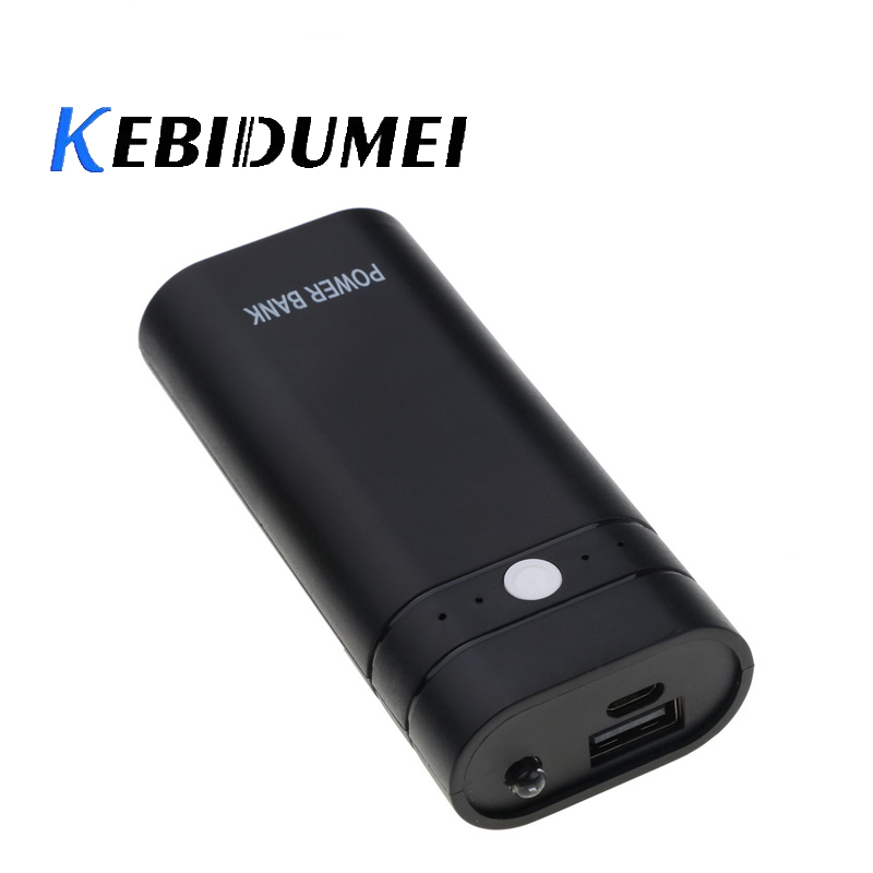 Kebidumei Mini 2 In 1 DIY 18650 Battery Charger Power Bank Flashlight Box Shell Case Kit For Xiaomi Iphone Smart Phone Charging