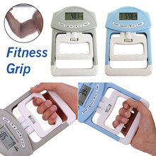 New 90kg/198Ib Digital LCD Dynamometer Hand Grip Power Measurement Strength Meter for Body Building Gym Exercises 8kg crossfit wall ball for strength building exercises