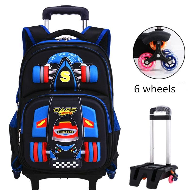 2019 Trolley School Bag Orthopedics Schoolbags For Boy Girl Children Waterproof Teenager School Backpack Kids Student Backpacks
