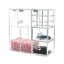 New Makeup Organizer Acrylic Storage Box Clear Cosmetic Lipstick Brush Holder Drawer