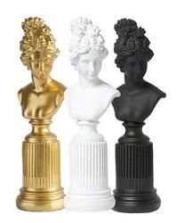 36cm wysoka nordycka bogini Freya popiersie na filarze/starożytna Roma i grecka Scuppture Pagan Freya  1.32kg każda|Stoliki kawowe|   -